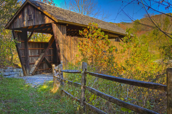 Photograph - Indian Creek Or Sulphur Springs Covered Bridge by Jack R Perry