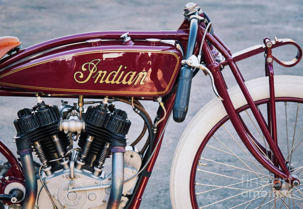 Daytona Photograph - Indian Daytona Board Track Motorcycle by Tim Gainey