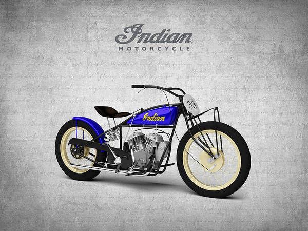 Wall Art - Digital Art - Indian Flat Track Racer 1928 by Aged Pixel