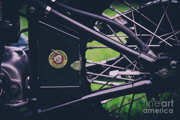 Photograph - Indian Four Motorcycle Detail by Tim Gainey