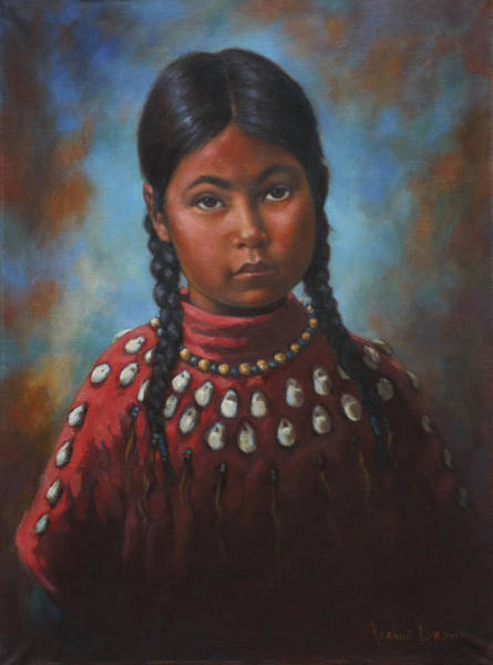 Wall Art - Painting - Indian Girl by Harvie Brown