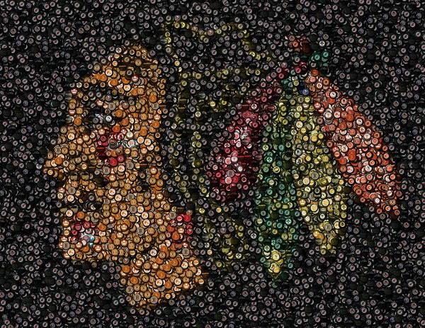 Indian Hockey Puck Mosaic Art Print