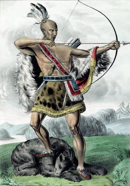 Digital Art - Indian Hunter by Carlos Diaz