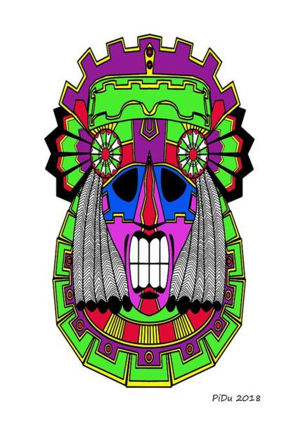 Digital Art - Indian Mask by Piotr Dulski