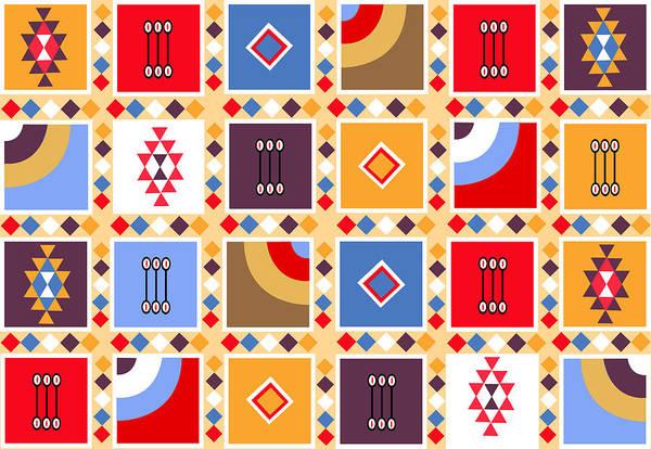 Deja Vu Digital Art - Indian Mexico Pattern On The Carpet by Dragana  Gajic