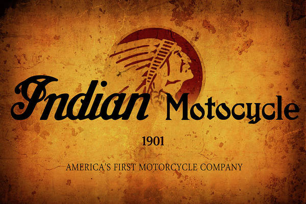 Wall Art - Digital Art - Indian Motocycle 1901 - America's First Motorcycle Company by Daniel Hagerman
