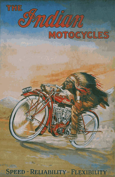 Sturgis Wall Art - Photograph - Indian Motocycles 1914 by Daniel Hagerman