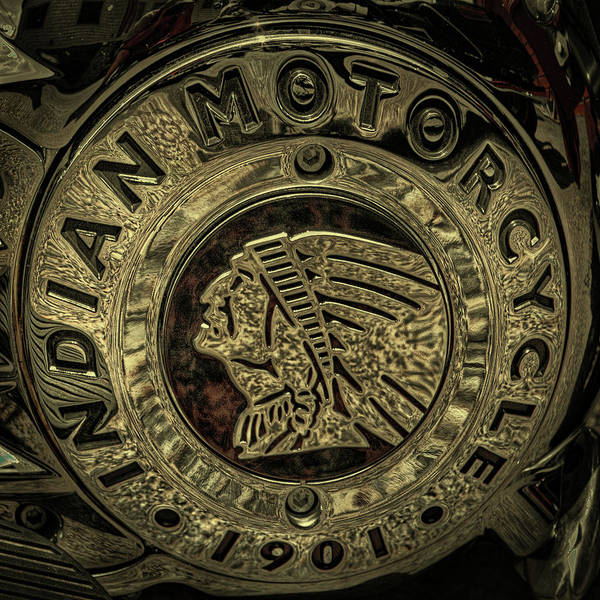 Photograph - Indian Motorcycle Logo by David Patterson