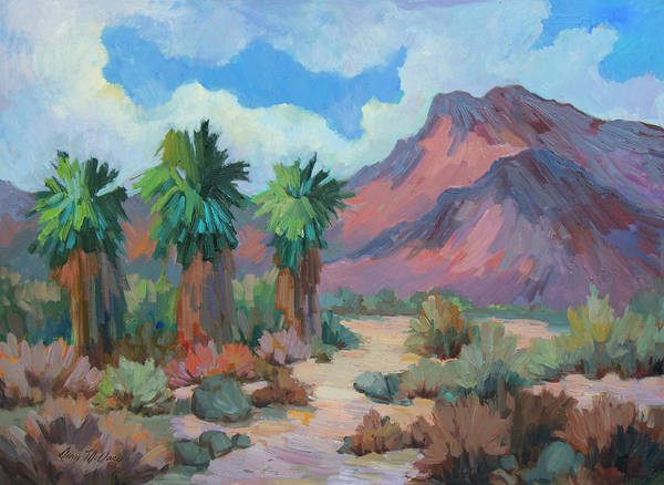 Wall Art - Painting - Indian Mountain - Borrego Springs by Diane McClary