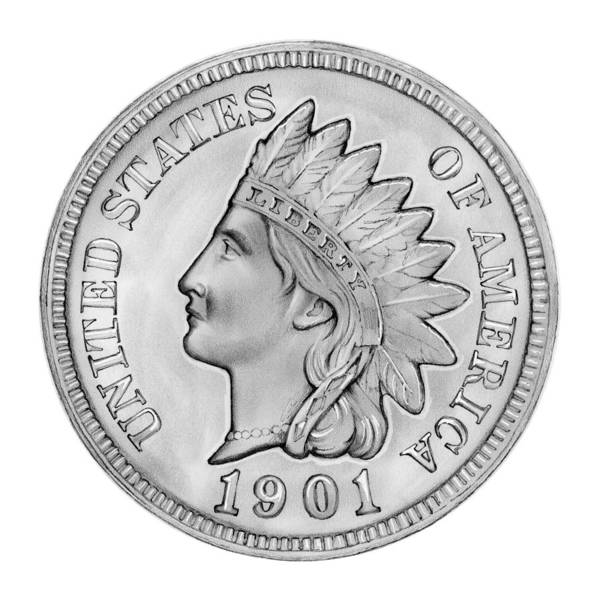 United States Drawing - Indian Penny by Greg Joens