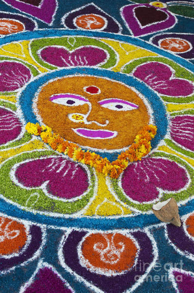 Wall Art - Photograph - Indian Rangoli Face  by Tim Gainey