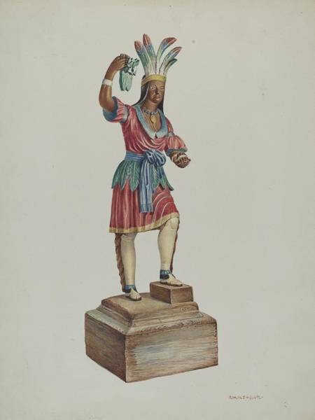 Wall Art - Drawing - Indian by Robert Wr Taylor