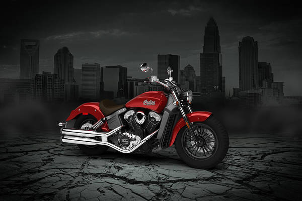 Wall Art - Digital Art - Indian Scout 2015 City 02 by Aged Pixel