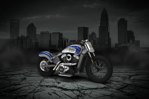 Wall Art - Digital Art - Indian Scout 2015 City by Aged Pixel
