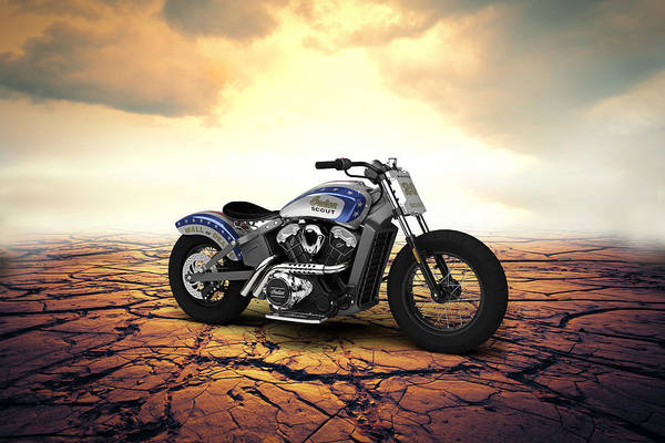Wall Art - Digital Art - Indian Scout 2015 Desert by Aged Pixel
