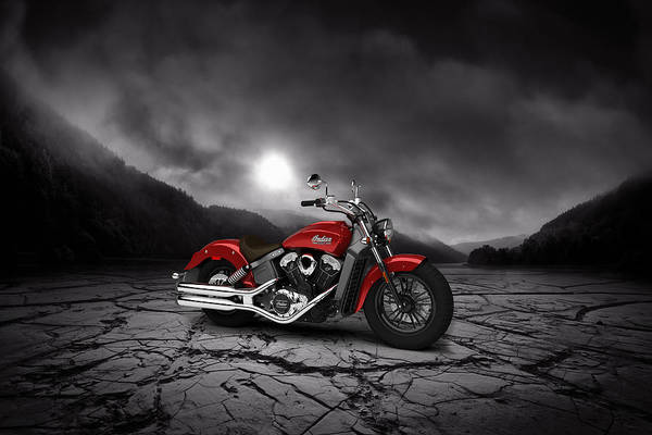 Wall Art - Digital Art - Indian Scout 2015 Mountains 02 by Aged Pixel