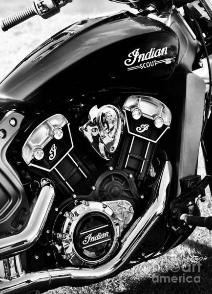 Photograph - Indian Scout 2015 by Tim Gainey