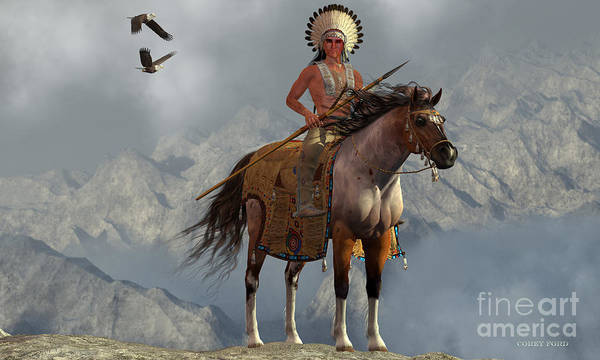 Native American Culture Painting - Indian Soaring Eagle by Corey Ford