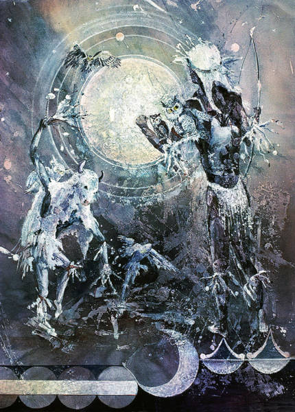 Indian Spirit Lunar Dance Art Print