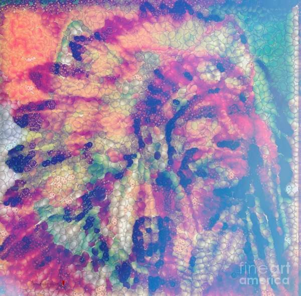 Painting - Indian Spirited Wolf  by Catherine Lott