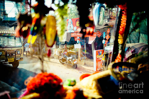Photograph - Indian Street From Window In The Bus by Raimond Klavins
