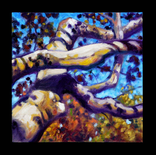 Sycamore Painting - Indian Summer Detail Twelve by John Lautermilch