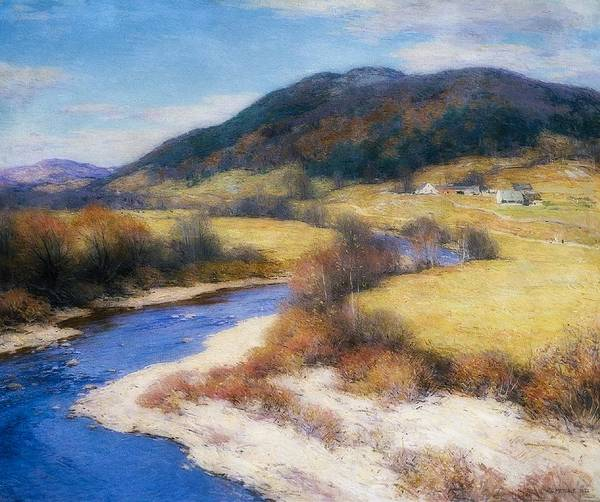 Wall Art - Painting - Indian Summer, Vermont by Willard Metcalf
