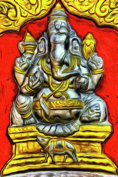 Wall Art - Photograph - Indian Temple Elephant Art by David Pyatt