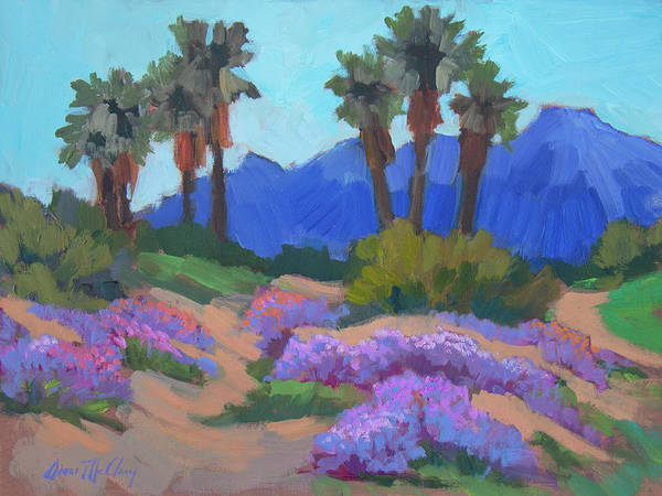 Wall Art - Painting - Indian Wells Verbena by Diane McClary