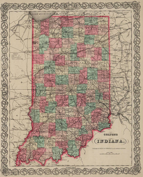 Wall Art - Drawing - Indiana by Colton
