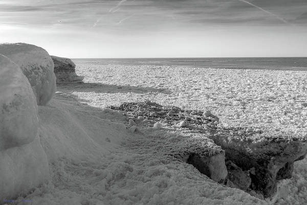 Photograph - Indiana Dunes Shelf Ice Waves #2 by Rich Ackerman