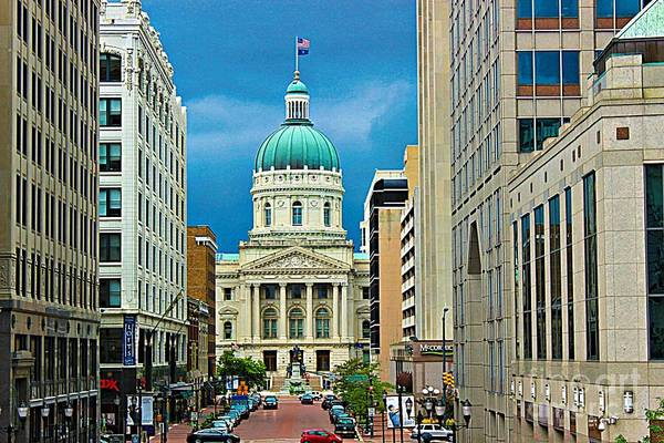 Photograph - Indiana State Capitol Building by Jenny Revitz Soper