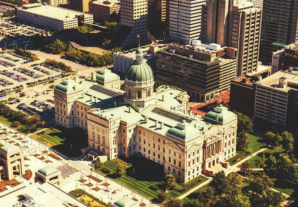 State Of Indiana Photograph - Indiana Statehouse - Indianapolis by Library Of Congress