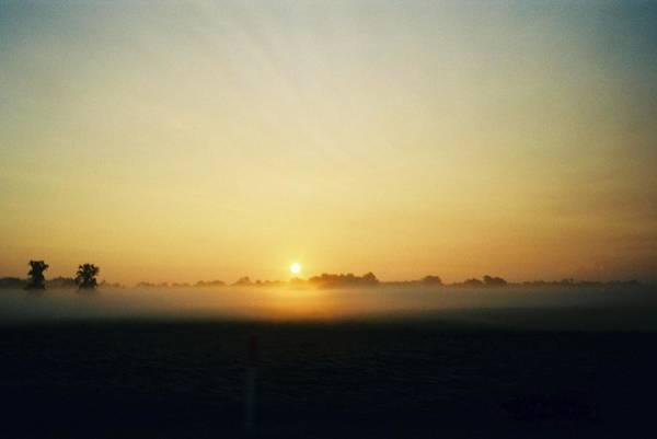 Indiana Sunrise Art Print by Gene Linder