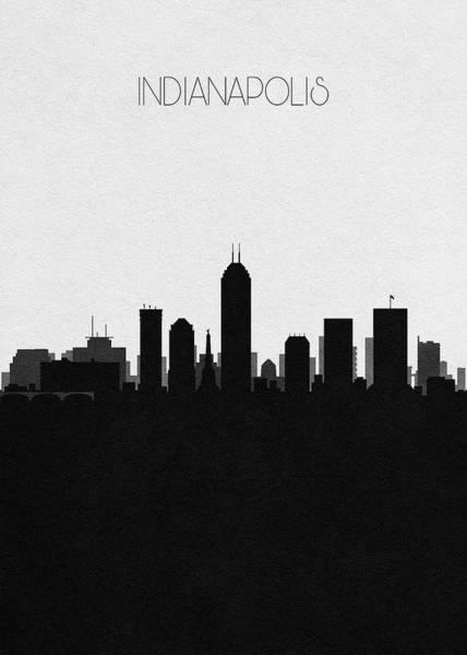 Souvenir Digital Art - Indianapolis Cityscape Art by Inspirowl Design