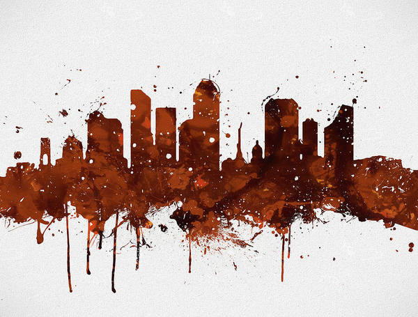 Wall Art - Painting - Indianapolis Colorful Skyline by Dan Sproul