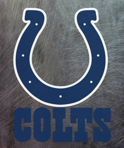 Mixed Media - Indianapolis Colts On An Abraded Steel Texture by Movie Poster Prints
