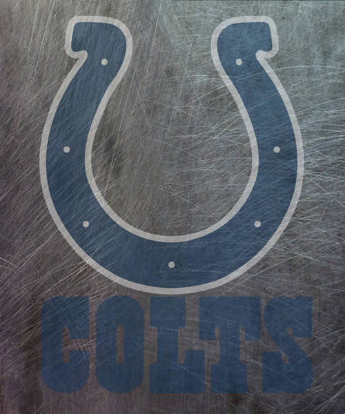 Mixed Media - Indianapolis Colts Translucent Steel by Movie Poster Prints