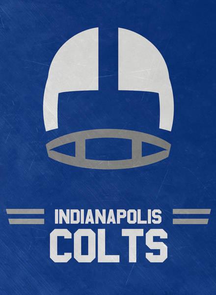 Ball Game Wall Art - Mixed Media - Indianapolis Colts Vintage Art by Joe Hamilton