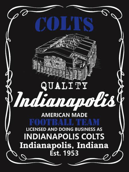 Whiskey Mixed Media - Indianapolis Colts Whiskey by Joe Hamilton