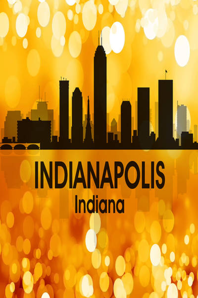 Digital Art - Indianapolis In 3 Vertical by Angelina Tamez