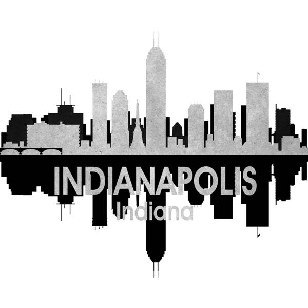 Wall Art - Mixed Media - Indianapolis In 4 Squared by Angelina Tamez