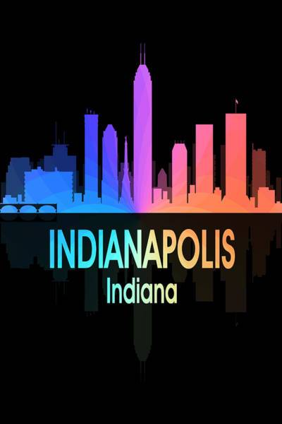Digital Art - Indianapolis In 5 Vertical by Angelina Tamez