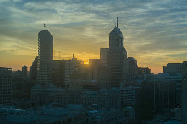Photograph - Indianapolis Indiana Skyline 19fa by David Haskett II