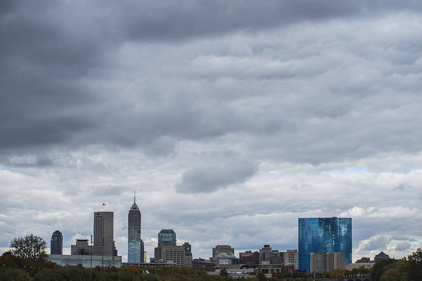 Photograph - Indianapolis Indiana Skyline 300 by David Haskett II