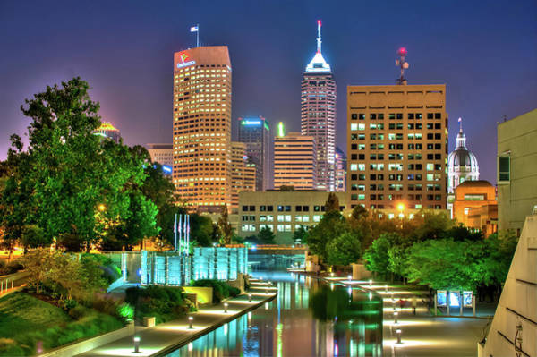 Photograph - Indianapolis Skyline Downtown Cityscape by Gregory Ballos