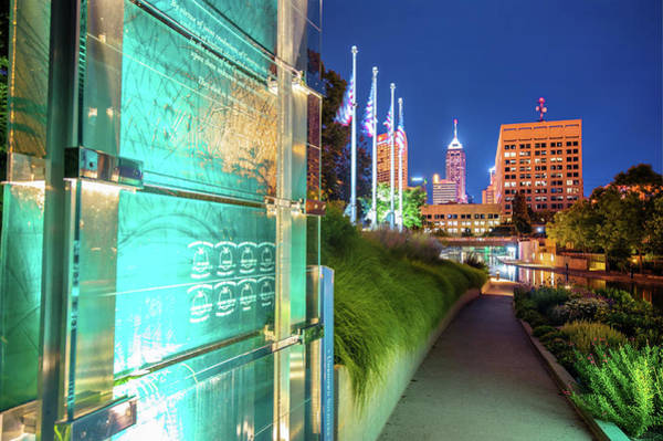 Photograph - Indianapolis Skyline From The Veterans Memorial by Gregory Ballos