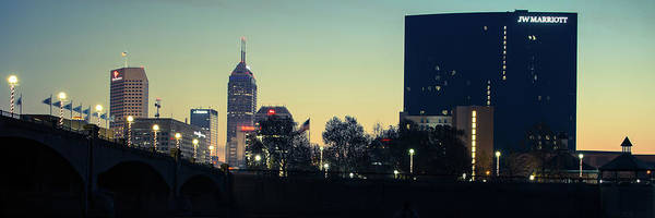 Photograph - Indianapolis Skyline Panoramic At Dawn by Gregory Ballos