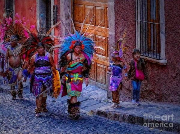 Photograph - Indians Walking  On Pila Seca by John  Kolenberg