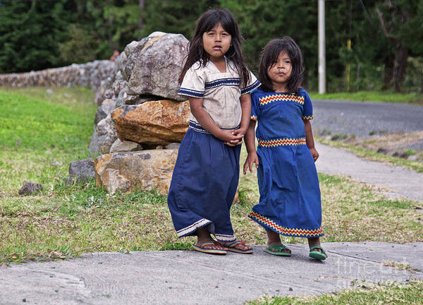 Photograph - Indigenous Panamanian Girls In Boquete, Panama by Tatiana Travelways